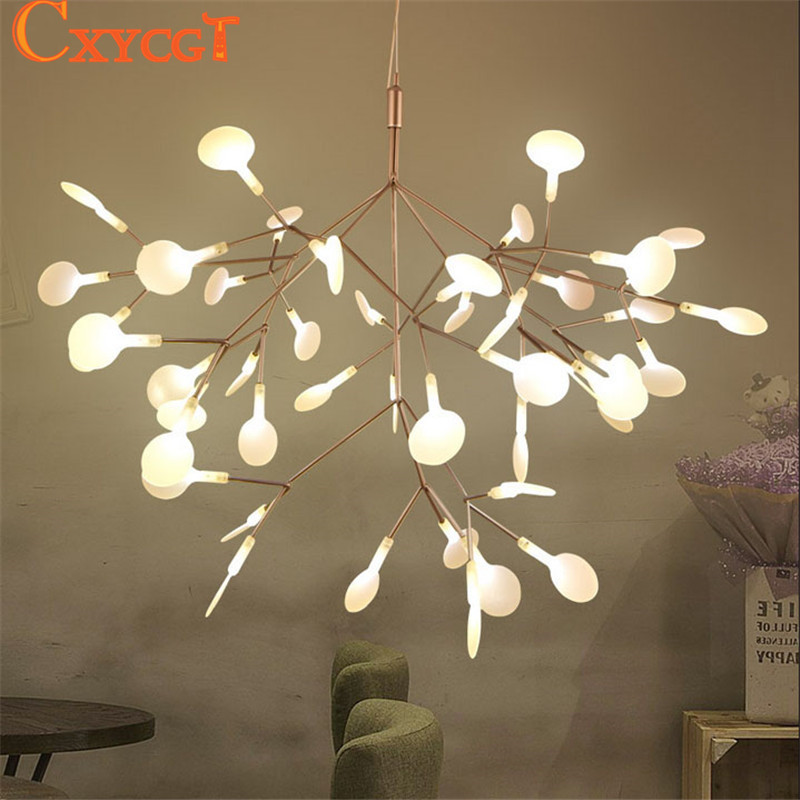 White Tree Branches Chandeliers Modern Suspension Hanging Light Metal Acrylic Decorative Pendant Led Lamp In From Lights Lighting On