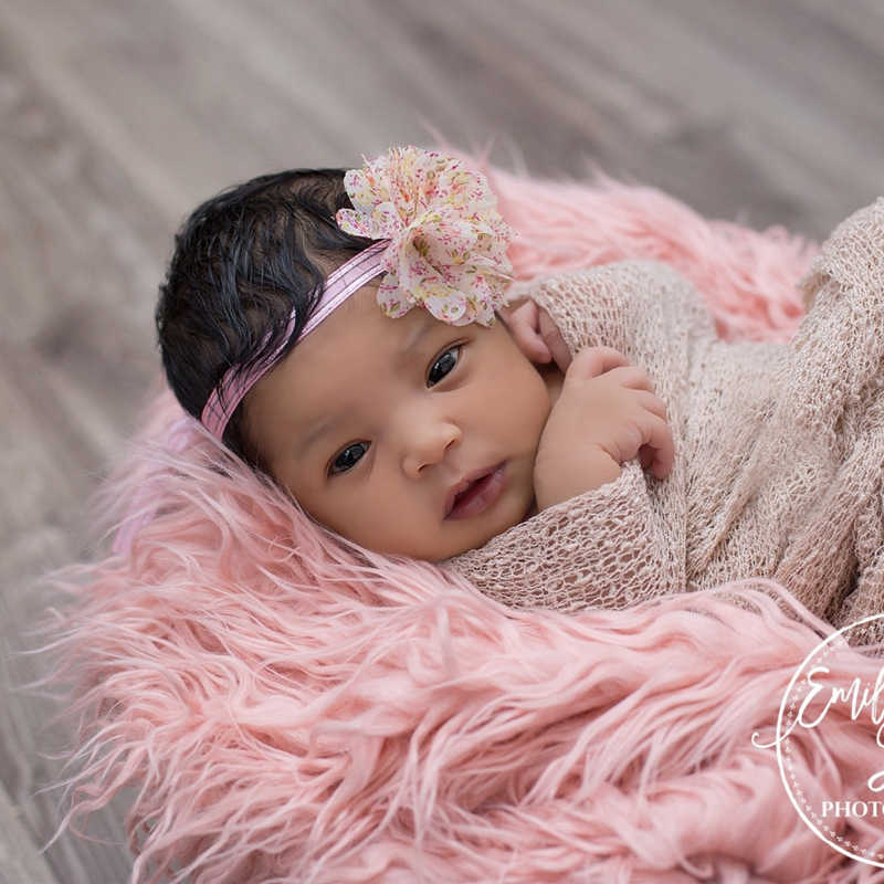 Accesorios de fotografía recién nacido accesorios para mantas largo de piel de felpa tela telón de fondo cesta de relleno, bebé Faux Fur fotografía telón de fondo