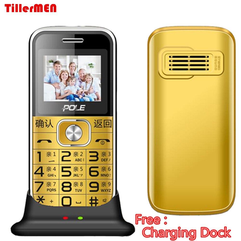 Ladestation Dock Senior ältere Kinder telefon Funktion Tastatur 1650 mAh mp3 Taschenlampe Telefon 2G GSM Push-Große Große taste Schlüssel Handy