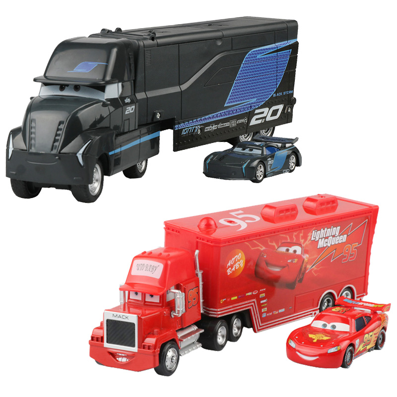 Disney Pixar Cars 3 Lightning McQueen Jackson Storm Mack Uncle Truck 1:55 Diecast Metal Alloy Model New Year Gift Toy Kid Boy