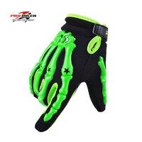 Full Finger Skeleton Motorcycles Protective Gloves Pro Biker Gloves Motocross Dirt Bike Mtb Cycling Downhill Black