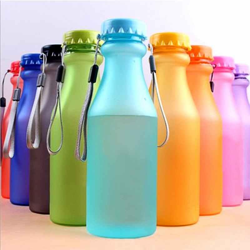 Botellas deportivas de plástico de 550 ml para botella de agua a prueba de fugas para estudiantes botella irrompible Yoga gimnasio Fitness shaker