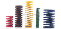 Free Shipping Green 18mm X 9mm X 55mm Metal Tubular Section Mould Die Spring 10pcs Lot