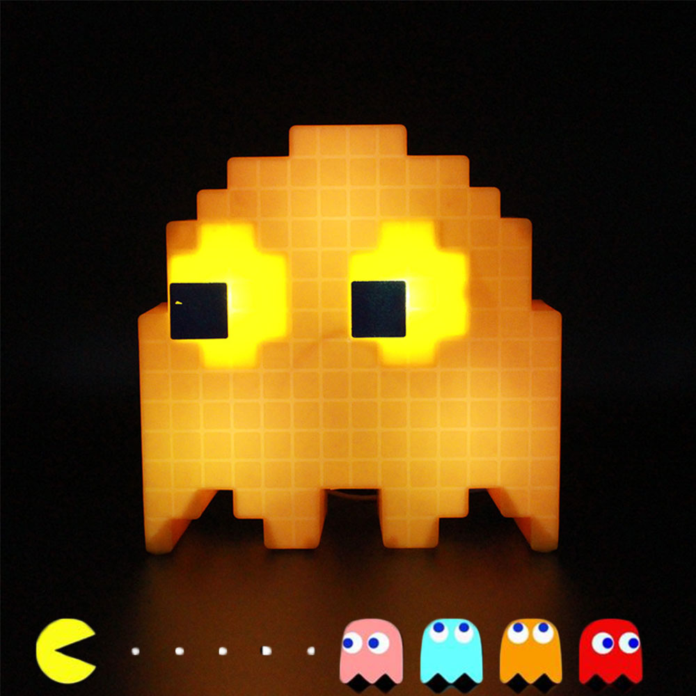Baby LED Night Light Pacman Cartoon USB Night Lamp Color Changing LED Bedside Luminarias For Children Bedroom Kids Toys