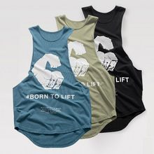 2019 Men Bodybuilding Tight Tank top New cotton sleeveless shirt Man Gyms Fitness vest Casual Stringer summer Casual vest(China)