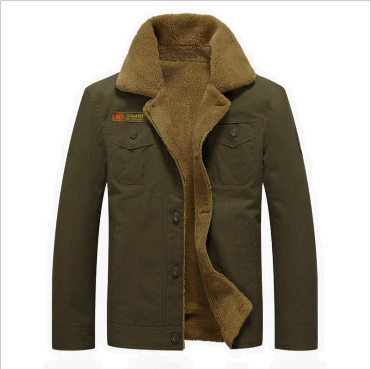 Coats Outerwear Hiking-Jackets Clothing Winter Single-Breasted Warm Thick Wool Men Blends