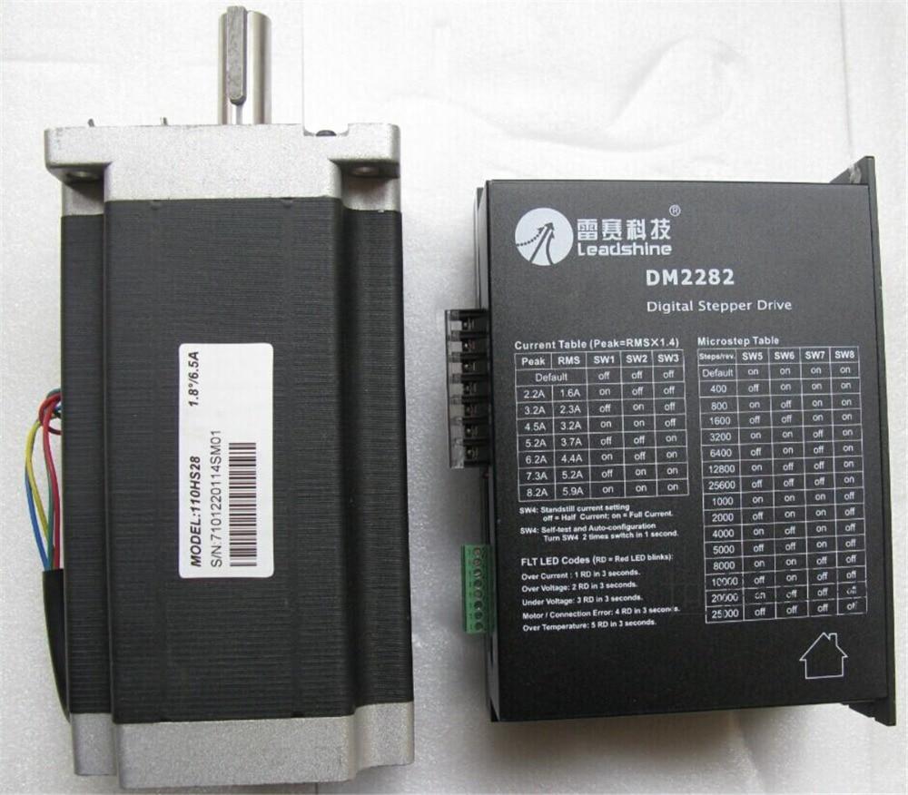CNC Stepper motor Drive Kit 2ph 1.8 Degree  6.5A 28NM NEMA42 110mm 180-240VAC 110HS28+DM2282 rc2604h stepper motor drive 578 586