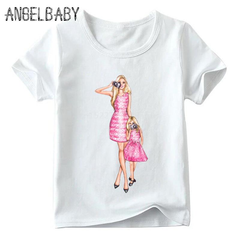 Одинаковые комплекты для семьи футболка для мальчиков и девочек с принтом супермамы и дочки одежда для подарка на День Матери Забавные футболки для детей и женщин - Цвет: 5281L