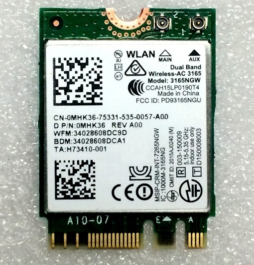 SSEA Wholesale new for Intel Dual Band Wireless-AC 3165 <font><b>3165NGW</b></font> WIFI Bluetooth4.0 NGFF M.2 wifi card 802.11AC 433Mbps image