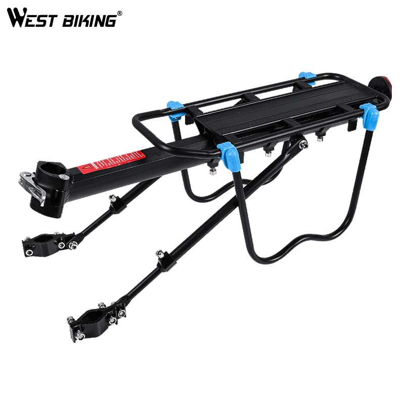 WEST BIKING Quick Release Bike Luggage Carrier Cargo Rear Rack Aluminum Alloy Bicycle Racks Bag Holder Back Rack For Cycling