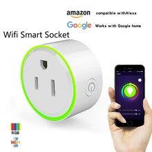 Smart Charger voor mini socket Plug WiFi Draadloze voice control met Timer switcher Compatibel met Alexa Google Thuis