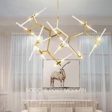 Современная светодио дный светодиодная люстра освещение для столовой гостиной блеск салон moderne стеклянная люстра подвесной светильник свет Fixt