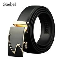 Goebel Popular Men Belt Brand Individuality Automatic Buckle Mens Belts Fashion Split Leather Men's Casual Belt