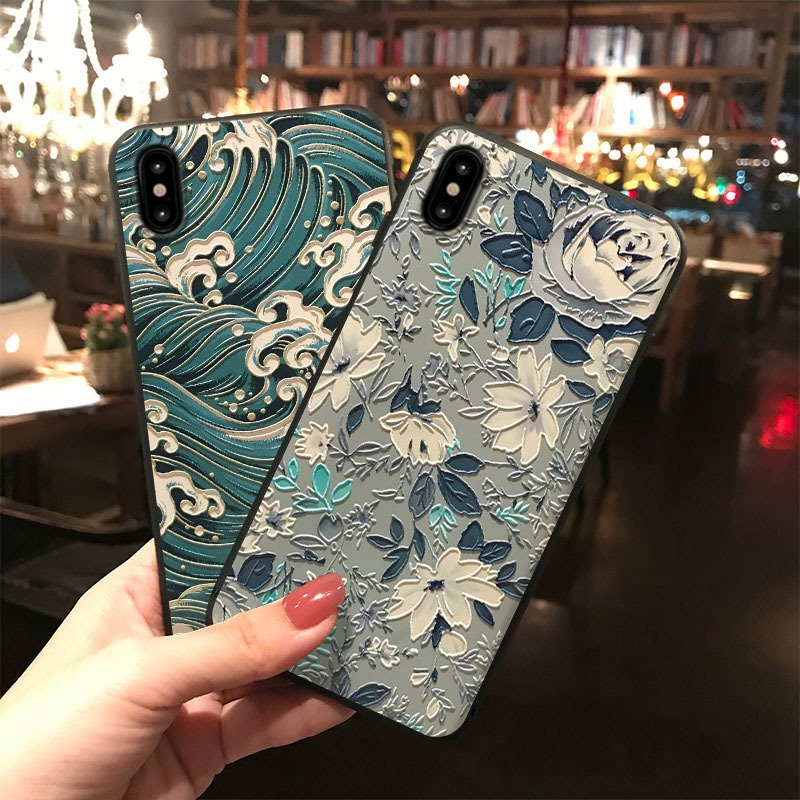 <font><b>3D</b></font> Emboss Soft TPU Case For <font><b>Xiaomi</b></font> Mi 9 5X A2 8 Lite A1 6X for <font><b>Redmi</b></font> 6A <font><b>4A</b></font> Plus 3S S2 Note 7 3 4 4X 5 5A 6 Pro Relief Case Cover image