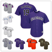 2bc24bc9a70 Men s Colorado Rockies Charlie Blackmon Alternate Purple White Bule Flexbase  Coolbase Player Jersey Size S-