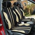 Transpirable cubierta de asiento de coche para Nissan Qashqai Nota especial Murano Marzo Teana Tiida Almera x-trai NEGRO/GRIS accesorios del coche