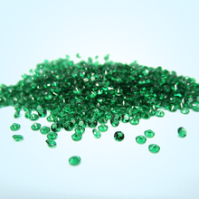 Free Shipping 5A Quality 0.9~2.5mm Round Cut Nano Green Stone For Wax Setting 500pcs/lot Green Nano Synthetic Gems For Jewelry
