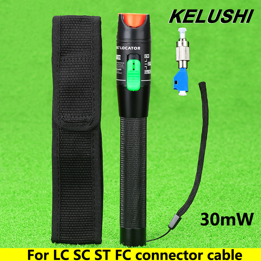 KELUSHI 2016 Visual Fault Locator 30mW Detector FC Male to LC Female Adapter LC SC ST