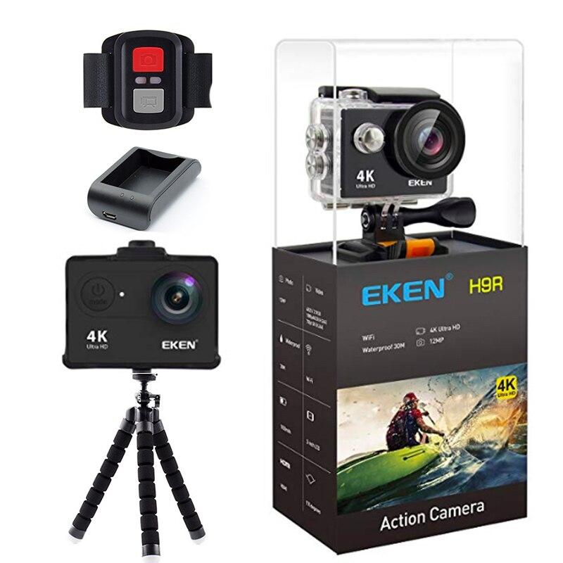 D'origine Eken H9/H9R 4 k action caméra Casque Sport Caméra 30 m étanche 12MP 170 Degrés Grand Angle voiture Drone Caméra Chargeur