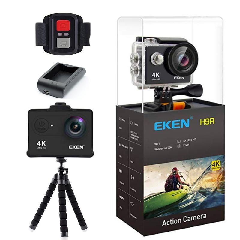 Original Eken H9/H9R 4k action caméra casque Sport caméra 30m étanche 12MP 170 degrés grand Angle voiture Drone chargeur de caméra