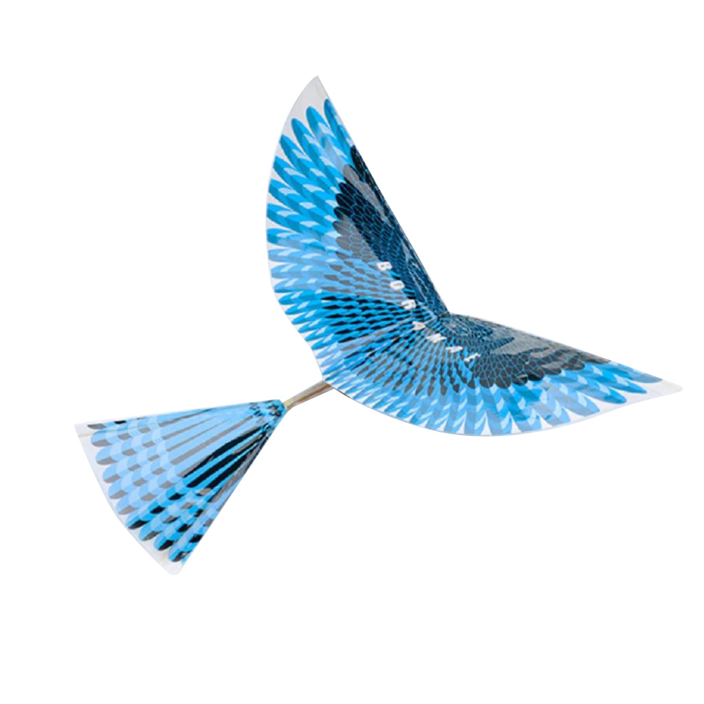 Rubber Band Powered Ornithopter Toys DIY Flapping Bird Plane Toy With Mechanical Wings