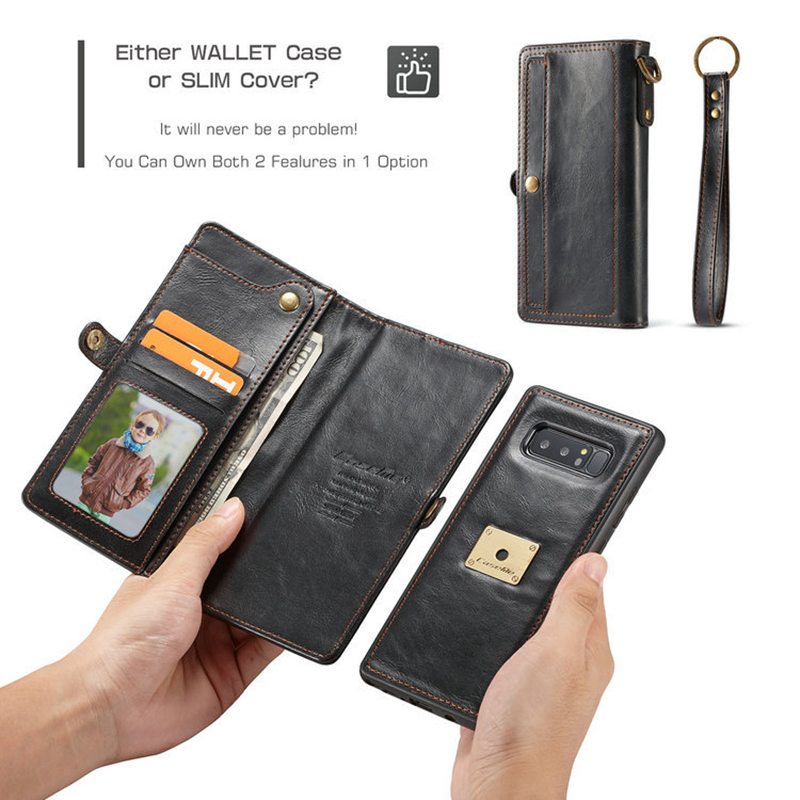 Note 8 Wallet Case Caseme Protective Credit Card Leather Flip Cover Strap Wallet Purse Case for Samsung Galaxy Note 8