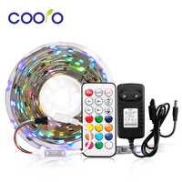 SMD 5050 WS2811 RGB полоса набор адресуемых 30 светодиодов/м Led пикселей Внешний 1 IC управление 3 светодиода с 21 клавишей/музыкой/Bluetooth контроллер