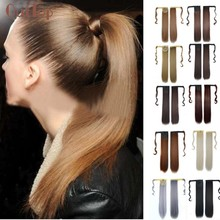 Beautiful Women Hot New Real New Clip In Human Hair Extension Straight Pony Tail Wrap Around Ponytail Dropshopping Wholesale(China)