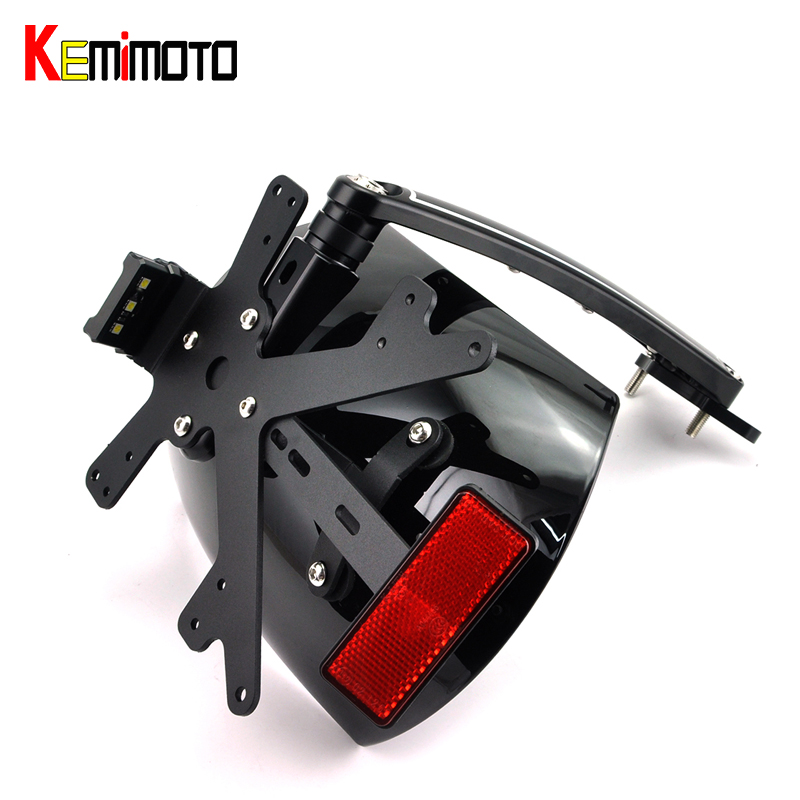 KEMiMOTO Motorcycle Accessories Rear Fender Bracket mudguard with LED License plate For BMW R1200 R NINE T 2014 2015 2016 motorcycle accessories rear fender eliminator license plate bolt screw for harley dyna softail sportster black silver