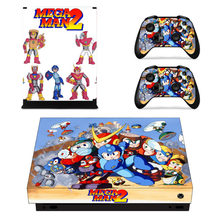 Mega Man 2 Skin Sticker Decal For Microsoft Xbox One X Console and Controllers Skins Stickers for Xbox One X Skin Vinyl(China)