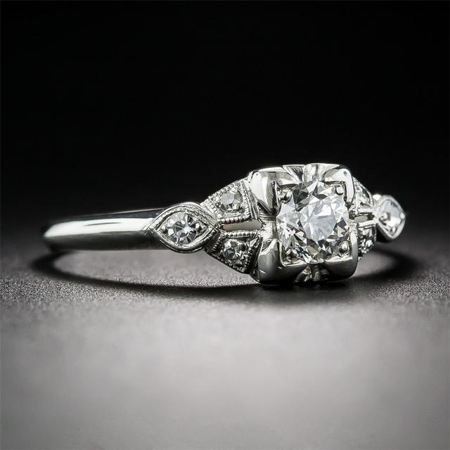 14K White Gold 0.5CT Lab Grown Diamond Engagement Ring