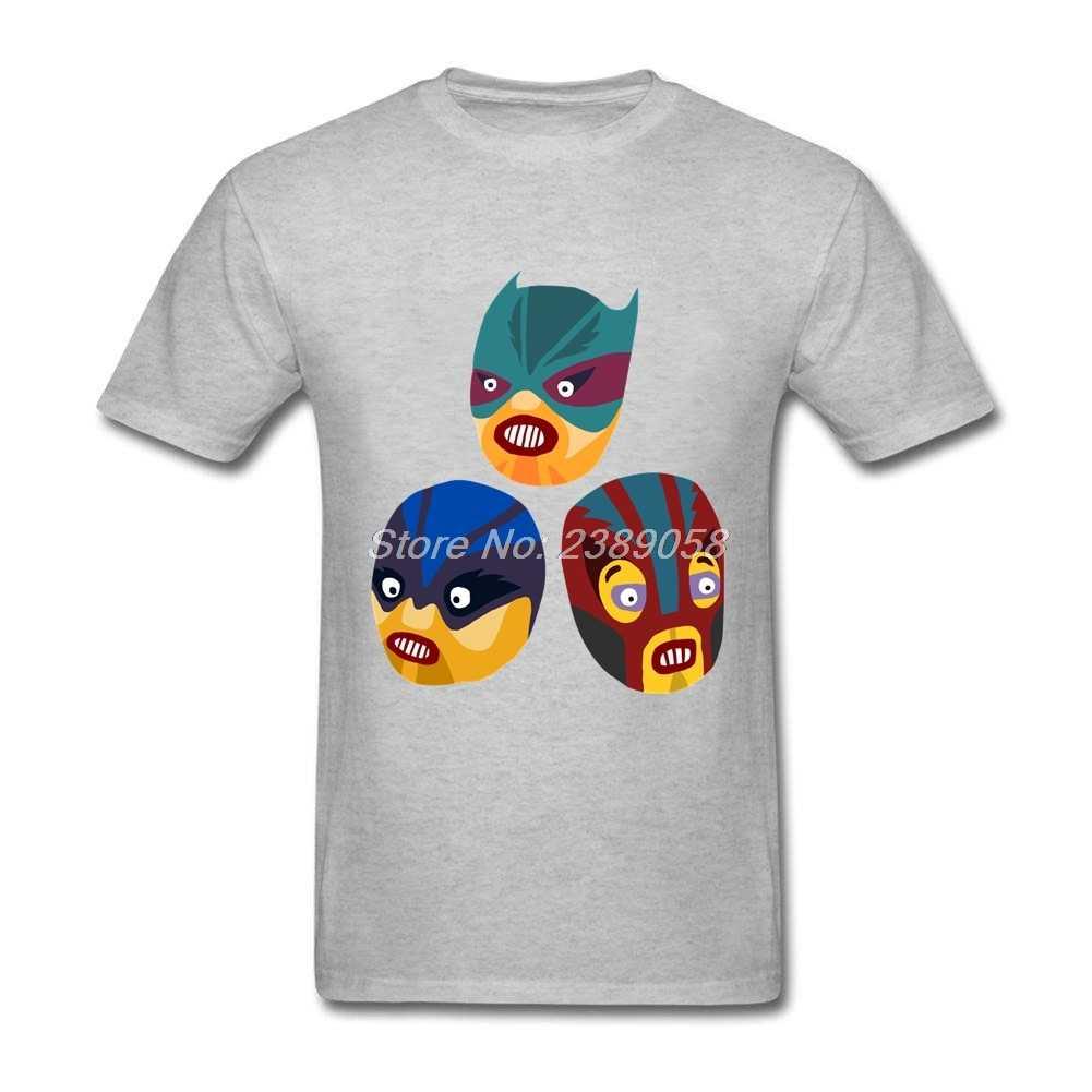 夏メンズtシャツスーパーヒーローtシャツ面白いマスクスリムフィットシンプルなスタイル半袖マンtシャツ