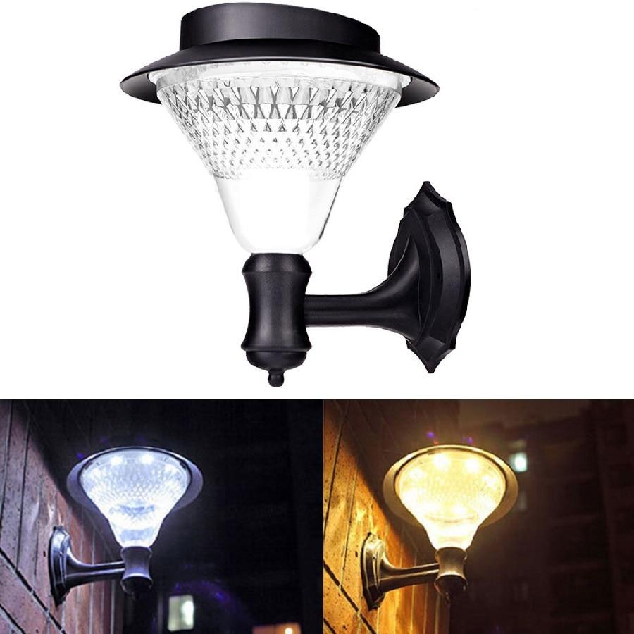 Eycocci Solar Wall Light Led Sensor Garden Lamp Retro 16 Leds Street Lights Outdoor Waterproof Pathway Lamps Decoration