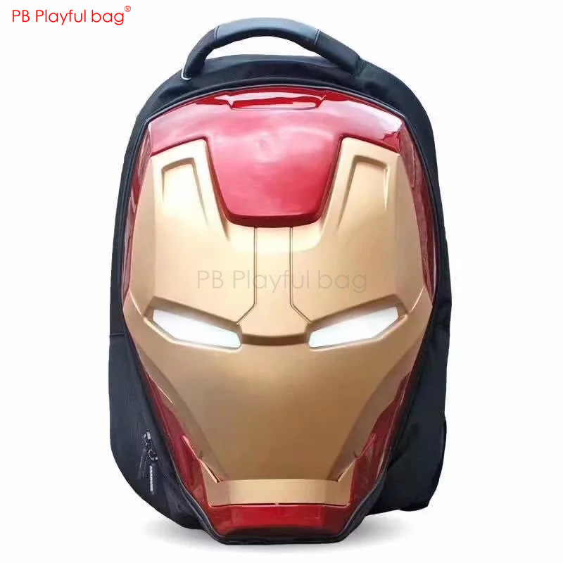 MARVE L Iron Man 3D head model Luminescent Backpack Novelty Eye glow Bag The Avengers Peripherals Children favorite gifts HC14MARVE L Iron Man 3D head model Luminescent Backpack Novelty Eye glow Bag The Avengers Peripherals Children favorite gifts HC14
