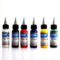 6Pcs Lot Tattoo Ink Set Permanent Makeup Micro Pigment Lasting Long 30ml Bottle Black Red Color