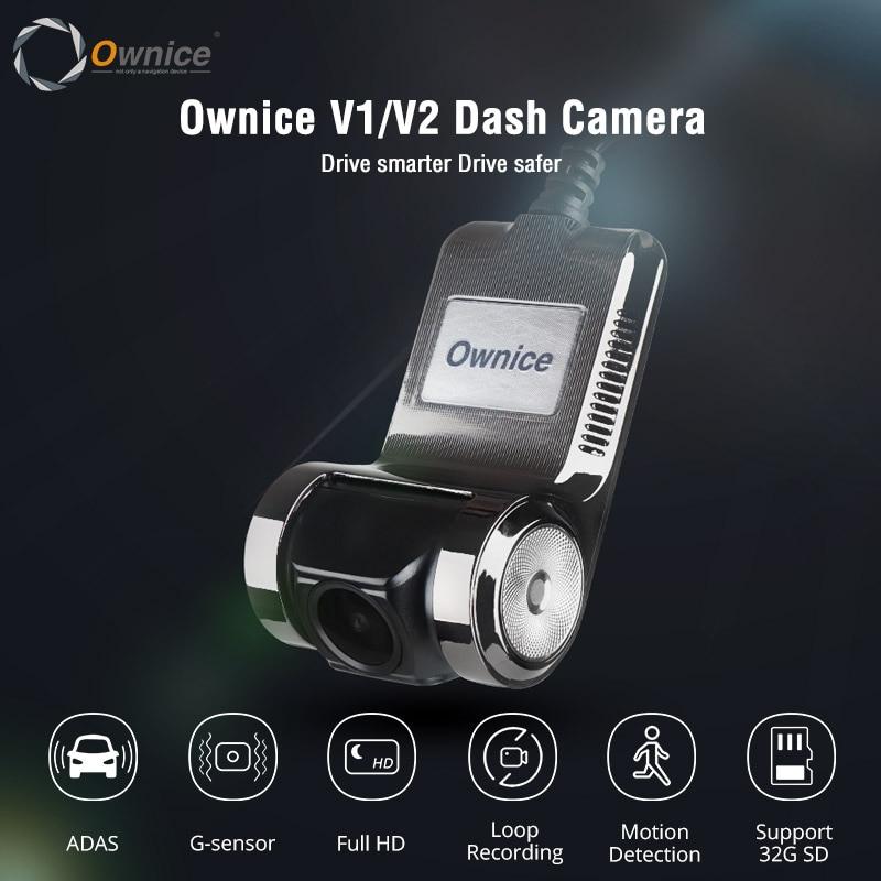 Ownice V1 V2 Mini ADAS voiture DVR Carmera Dash Cam Full HD1080P voiture enregistreur vidéo g-sensor Vision nocturne Dashcam accessoires