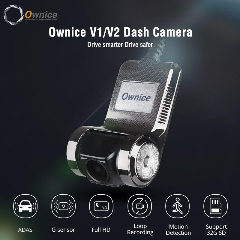 Ownice v1 v2 mini adas carro dvr carmera traço cam completo hd1080p gravador de vídeo do carro g-sensor de visão noturna dashcam acessórios