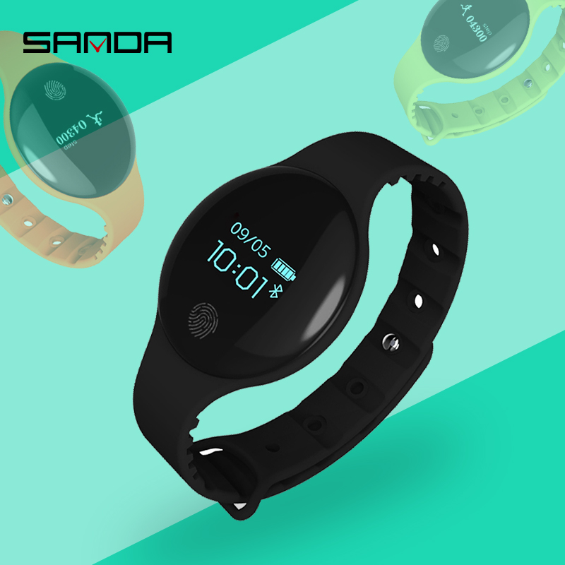 Reloj inteligente SANDA Bluetooth para IOS Android hombres mujeres deporte podómetro inteligente Fitness pulsera Relojes para iPhone reloj hombres