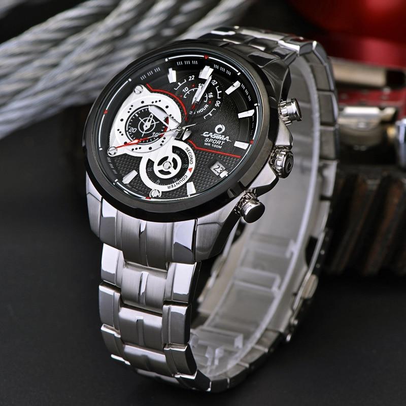 Lüks Marka İdman Kişi Saatı Kvars Saatı Təsadüfi - Kişi saatları - Fotoqrafiya 4