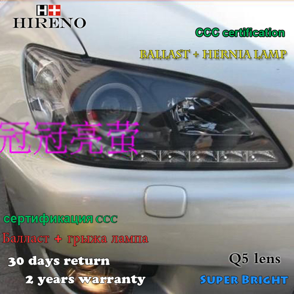 Hireno Headlamp for 1998-2005 Lexus is200 is300 Headlight Assembly LED DRL Angel Lens Double Beam HID Xenon 2pcs hireno headlamp for mercedes benz w163 ml320 ml280 ml350 ml430 headlight assembly led drl angel lens double beam hid xenon 2pcs