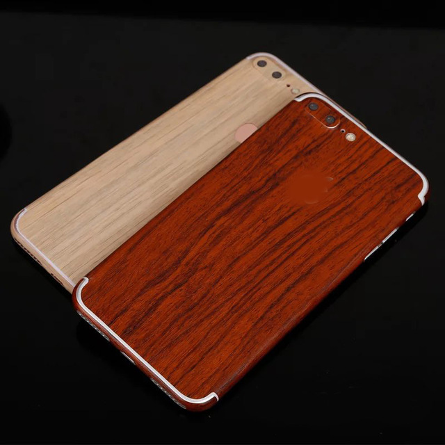 separation shoes 5049a af702 US $2.99 |Lemonaln Fashion Wood Grain Phone Sticker Case full body Decal  Wrap Skin Back Cover Film protector Film For iPhone 7 7Plus New on ...