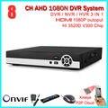 New Best 1080N AHD-H 8 Canais AHD DVR Gravador De Vídeo de 8 Ch 720 P 960 h câmera ip câmera ahd ahd dvr para 1080n dvr híbrido nvr onvif