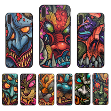 IMIDO Fashion colorful cool devil tattoo Soft silicone phone case for iphone 6 7 8 5 X Xs Xr Xsmax 6s/7/8/6plus 5S 6s TPU shell imido oriental dragon pattern design soft black silicone phone case for iphone x xs xr xsmax 7 8 6 5 6s 6 7 8plus 5 6s tpu shell