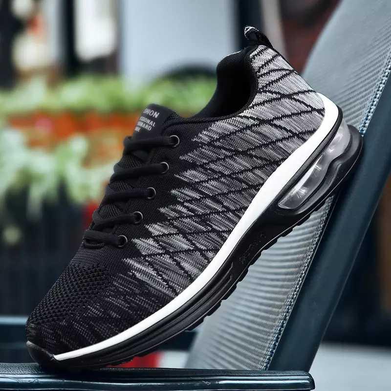 Кроссовки мужская обувь мужские кроссовки повседневные дышащая Летняя Сетка 2019 большой размер 46 Мужская обувь для спорта модные кроссовки RMC-057