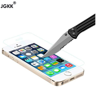 JGKK HD Clear Screen Protector for iphone 5 5S 5C SE 2.5D Tempered Glass Protective Film for iPhone SE 5 5s