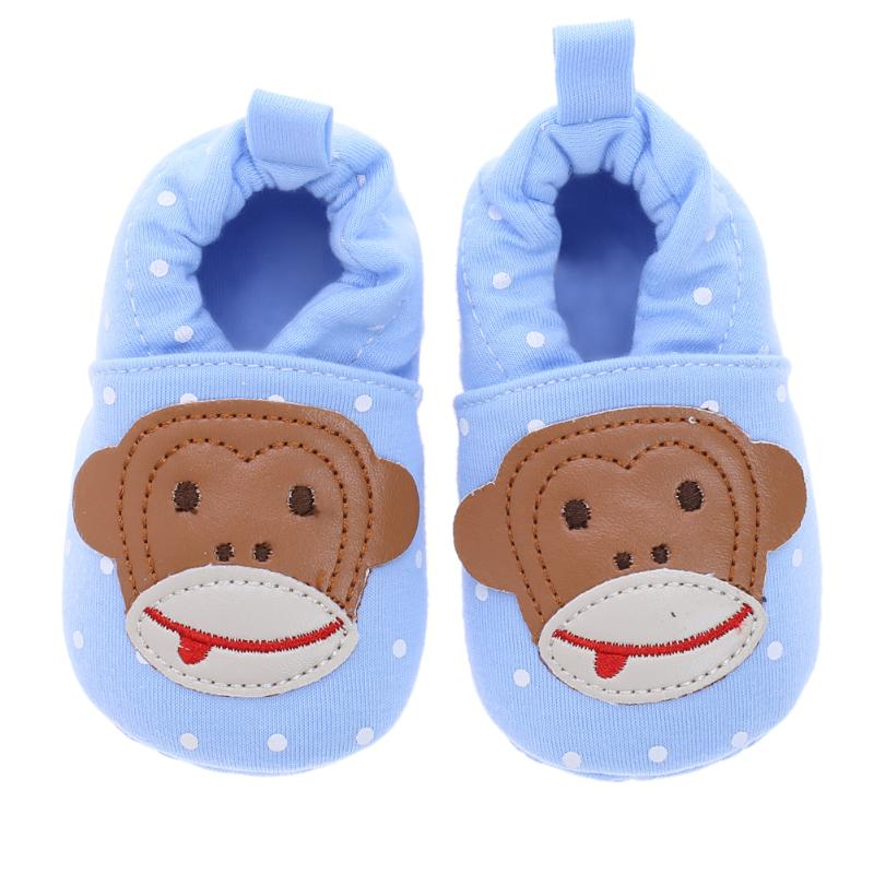 Baby Shoes Cute Cartoon Monkey Pattern Newborn Baby Infant Shoes Elastic Band First Walker For Autumn Winter Mother & Kids
