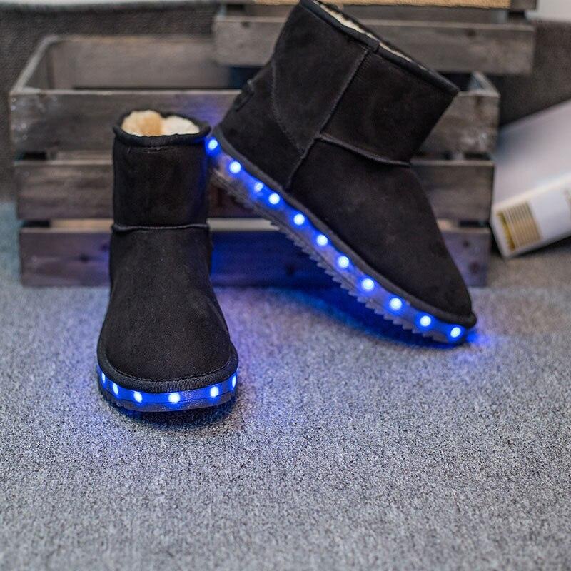 ФОТО 2017Light up women Snow boots superstar LED colorful zapatillas deportivas mujer fashion neon sandalia flashing woman boots