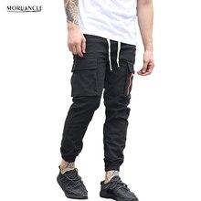 Moruancle mode herren hip hop jogger multi taschen designer pluderhosen für männlichen kordelzug cargohose jogginghose e0166