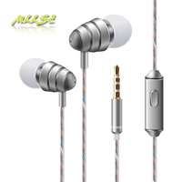2017 Newest High Quality Best Bass 3 5mm Plug In Ear Earphones With Mic Volume Control