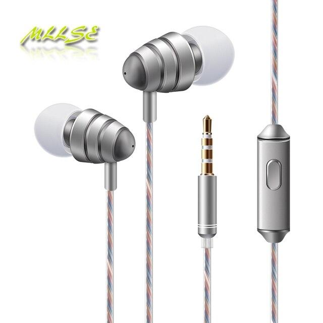 2017 neueste Qualität Besten Bass 3,5mm Klinkenstecker in-ohr Kopfhörer mit mikrofon Lautstärkeregler-kopfhörer für telefon klapphandy